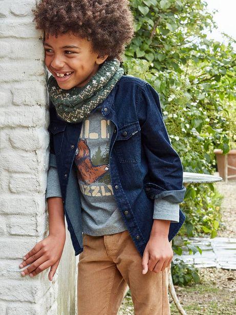 Chemise en jean garçon - denim brut offre à 19,99€
