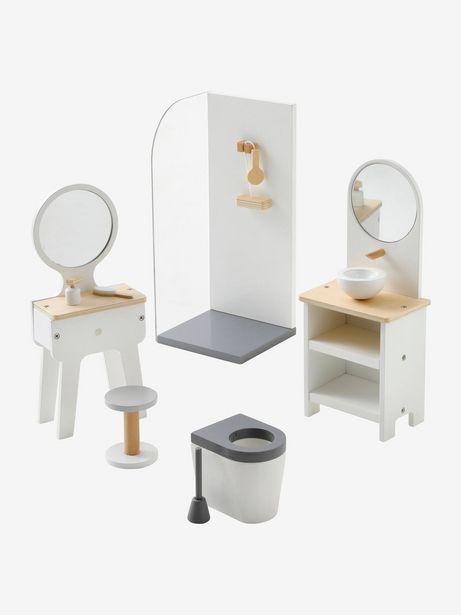 Mobilier de salle de bain pour poupée mannequin en bois... offre à 27,99€