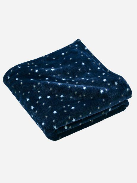 Couverture en microfibre imprimée étoiles Oeko-Tex® -... offre à 6,99€