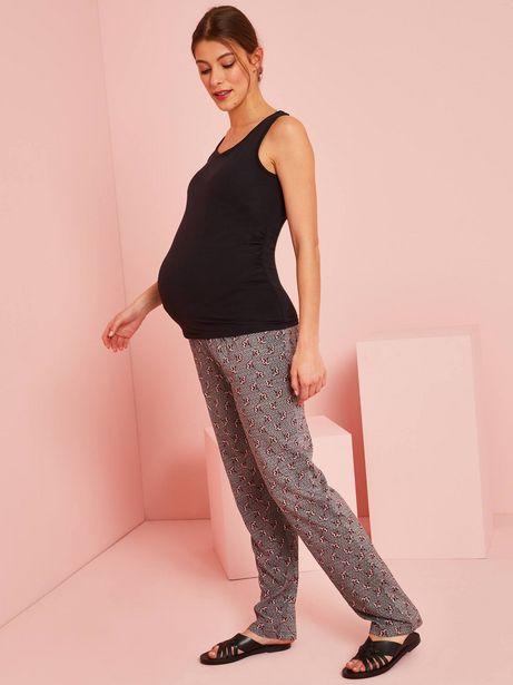 Pantalon de grossesse imprimé wax - noir wax offre à 17,99€