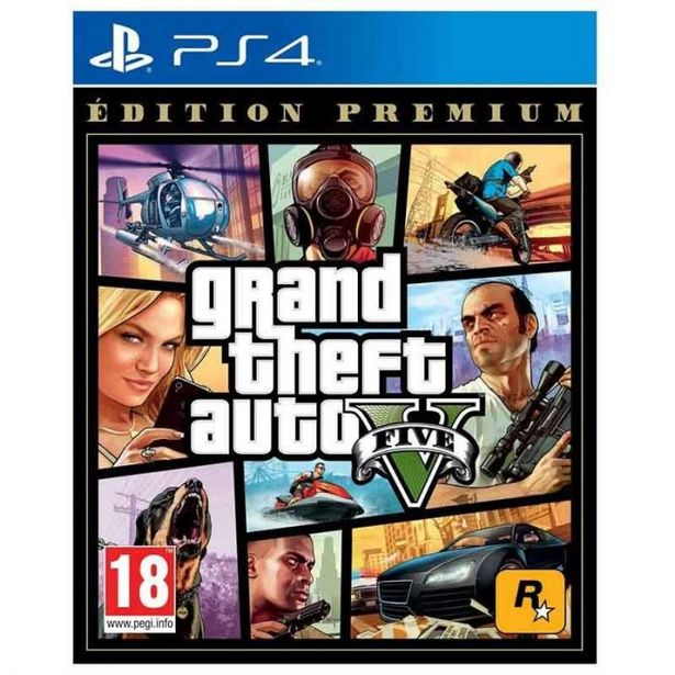 Jeu vidéo GTA V PREMIUM pour PS4 offre à 17,95€