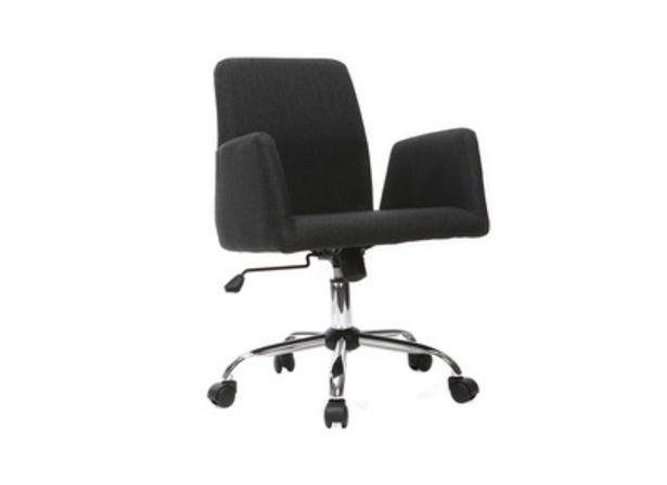 Poltrona da ufficio design tessuto nero ARIEL offre à 86,89€