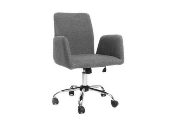 Poltrona da ufficio design tessuto grigio ARIEL offre à 72,99€
