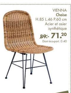 VIENNA chaise offre à 71,2€