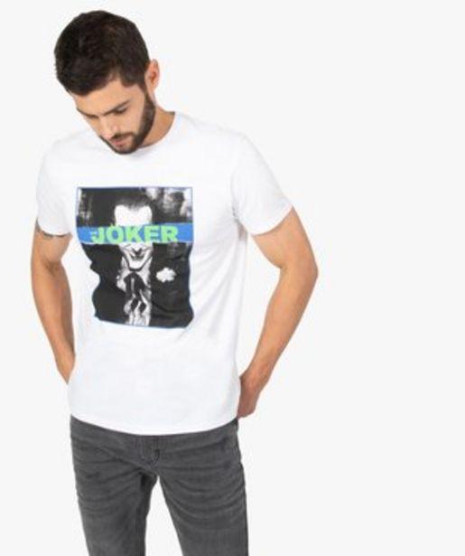 Tee-shirt homme à manches courtes imprimé - Joker vue1 - JOKER - GEMO offre à 9,09€