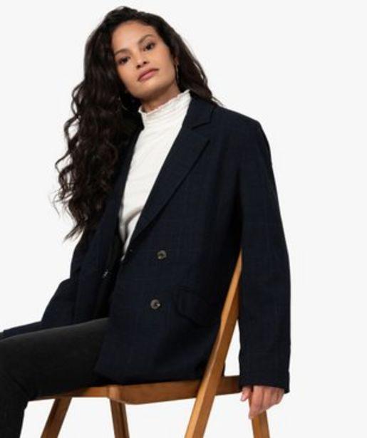 Veste femme fermeture croisée et double boutonnage vue1 - GEMO(FEMME PAP) - GEMO offre à 39,99€