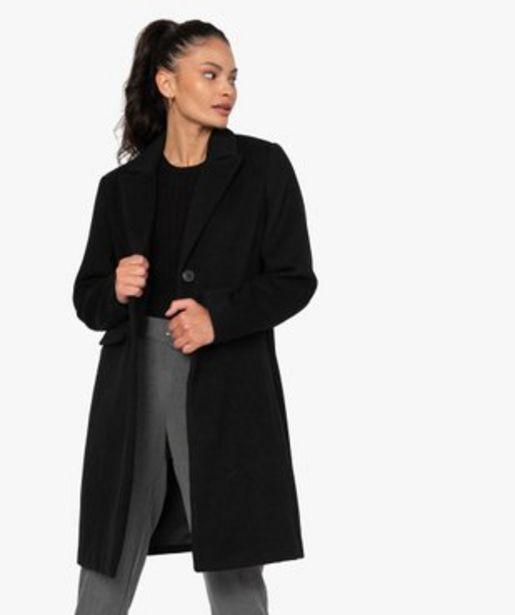 Manteau femme mi-long à col tailleur vue1 - GEMO(FEMME PAP) - GEMO offre à 29,99€