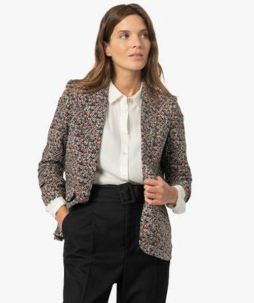 Veste femme à manches ¾ froncées vue1 - GEMO(FEMME PAP) - GEMO offre à 29,99€