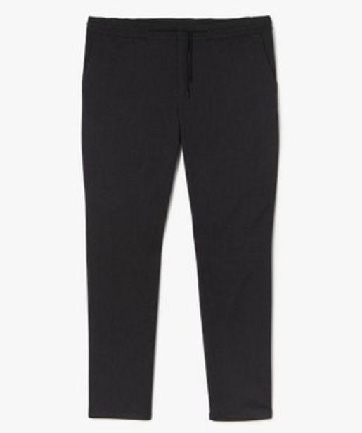 Pantalon homme en maille avec cordon vue1 - GEMO (G TAILLE) - GEMO offre à 29,99€