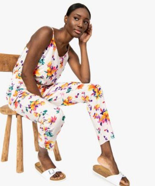 Combinaison pantalon femme à motifs fleuris vue1 - GEMO(FEMME PAP) - GEMO offre à 19,99€