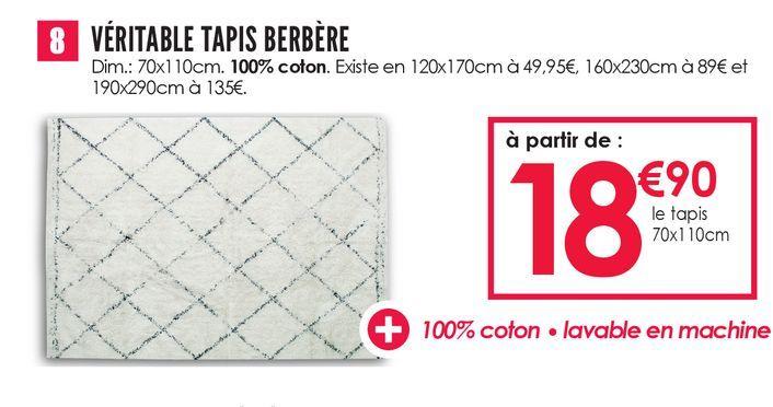 Véritable Tapis berbère offre à 18,9€