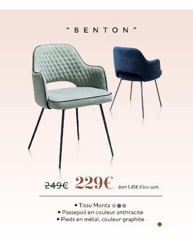 """Chaise """"Benton"""" offre à 229€"""