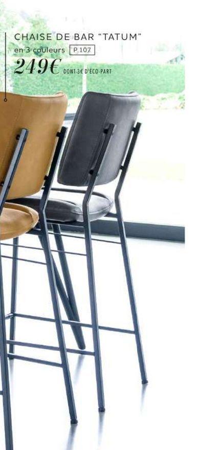 """Chaise de bar """"Tatum"""" offre à 249€"""