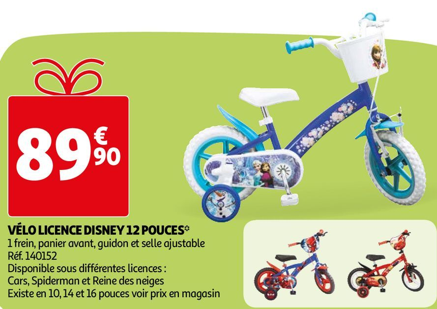 VÉLO LICENCE DISNEY 12 POUCES  offre à 89,9€