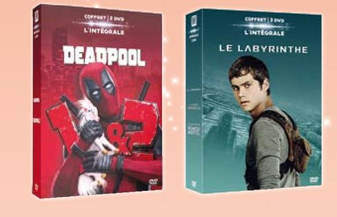 COFRETS FILMS L'intégrale DeadPool 2 DVD ou L'intégrale Le Labyrinthe 3 DVD  offre à 14,99€