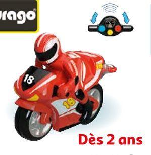 BB JUNIOR - MA PREMIÈRE MOTO RADIOCOMMANDÉE COURSE ROUGE offre à 24,8€