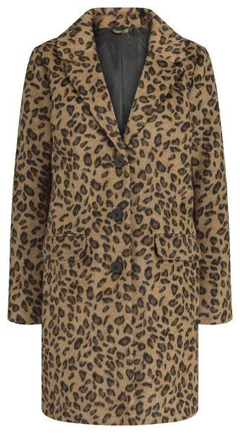 Manteau femme taches léopard noir offre à 15€