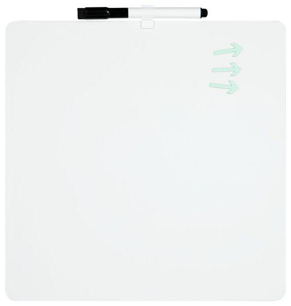 Tableau magnétique blanc 30x30 vierge offre à 8€