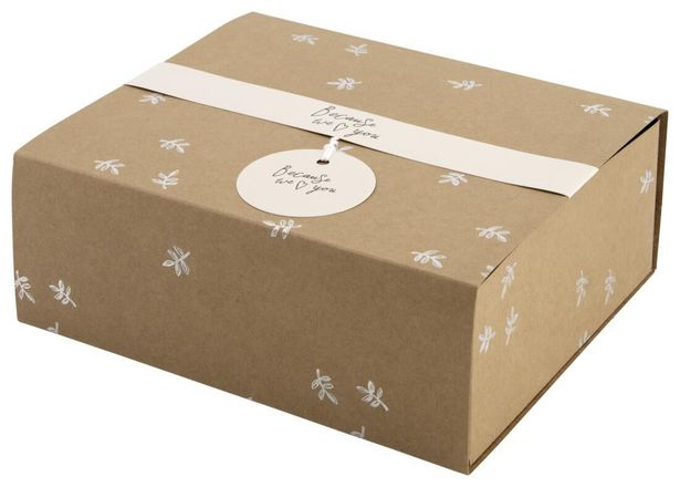 Boîte cadeau 19.5x16x7 kraft offre à 2,5€