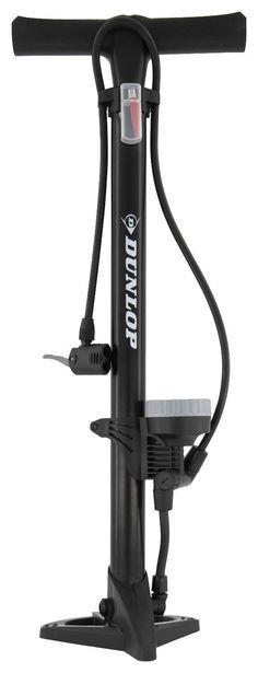Pompe à vélo sur pied avec manomètre de 11bar Dunlop offre à 15€