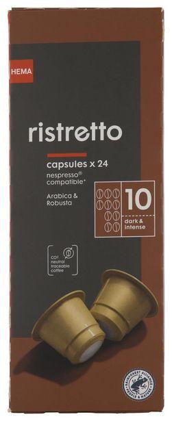 24 capsules de café ristretto offre à 3,25€