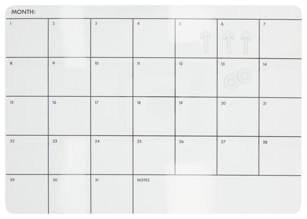Tableau magnétique blanc 28x39 mensuel offre à 11,5€
