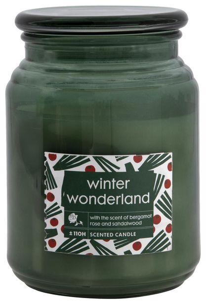 Bougie parfumée dans un pot en verre Ø10x14 winter wonderland offre à 9,5€