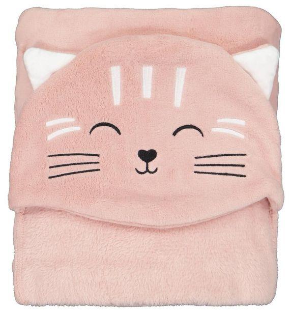 Couverture à capuche  130x150 - chat offre à 14€