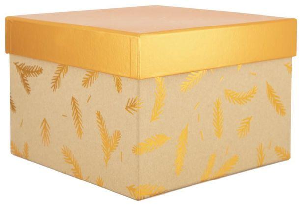 Boîte cadeau 21x21x15 kraft offre à 5€