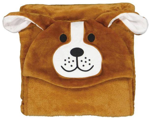 Couverture à capuche 130x150 - chien offre à 14€