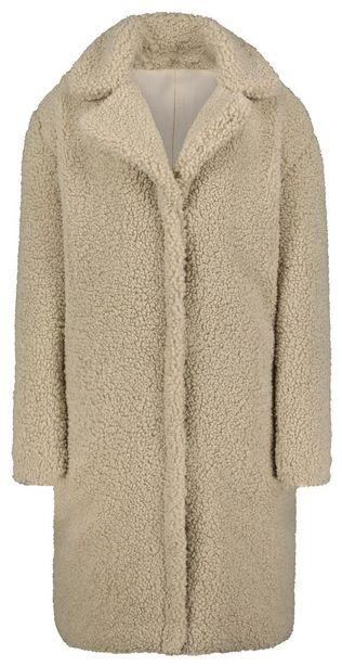 Manteau femme teddy gris clair offre à 55€