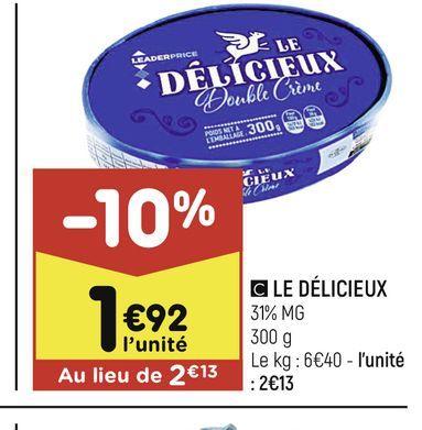 Le Delicieux offre à 1,92€