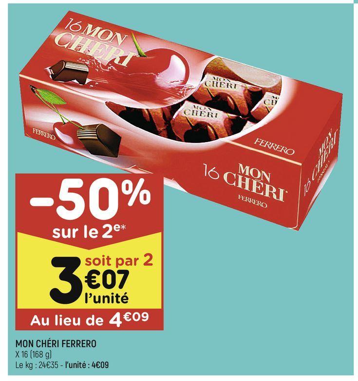 Mon Cheri Ferrero offre à 4,09€