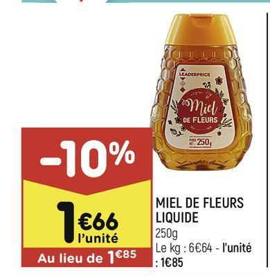 Miel de fleur liquide offre à 1,66€