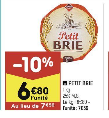 Petit Brie offre à 6,8€