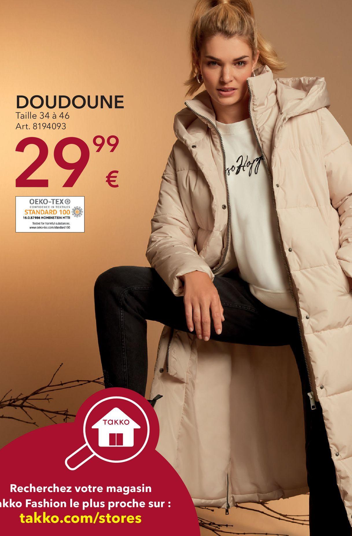 Manteau femme offre à