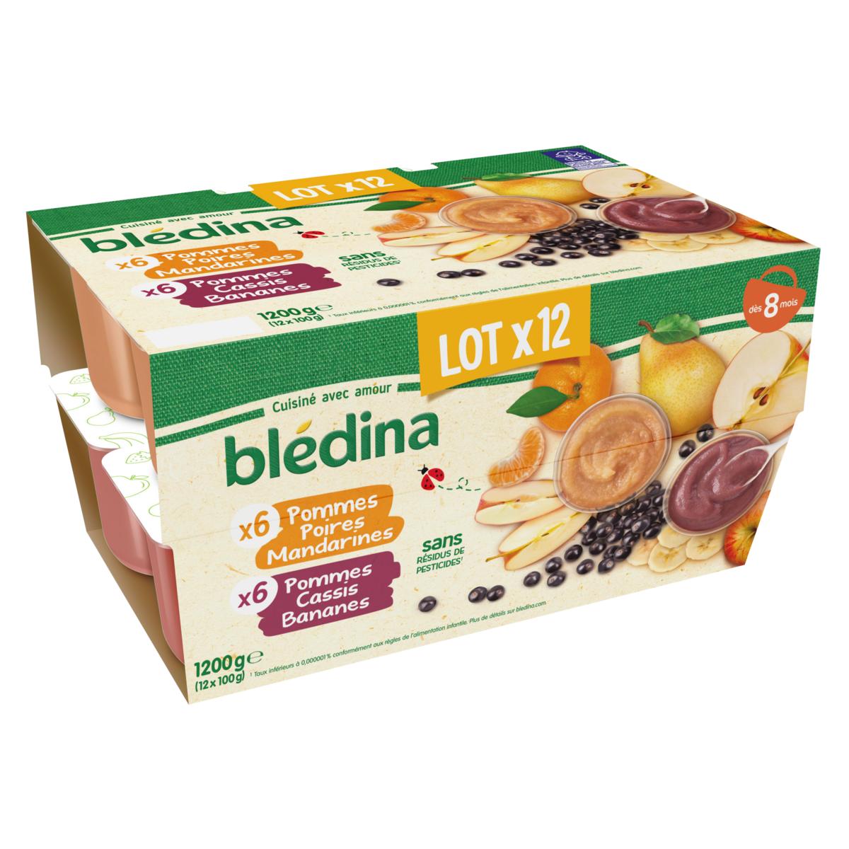 Coupelles de fruits Blédina offre à 2,96€