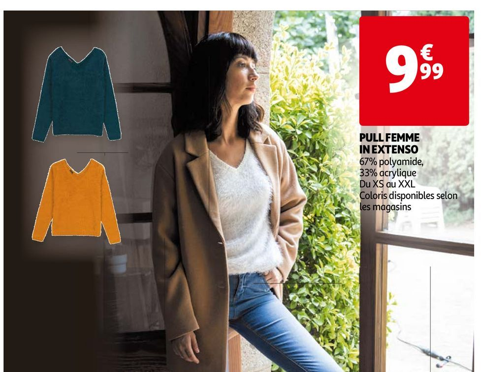 Pull femme in extenso offre à 9,99€