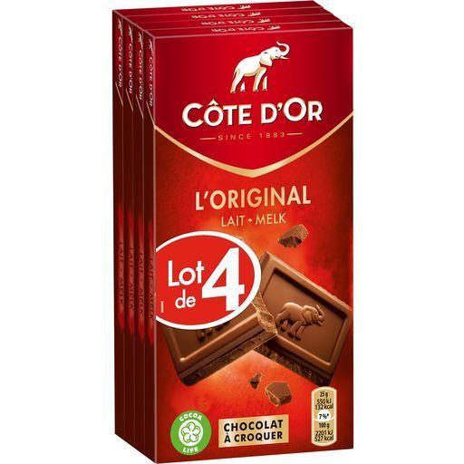 Tablettes de chocolats extra Côte d'or offre à 6,58€