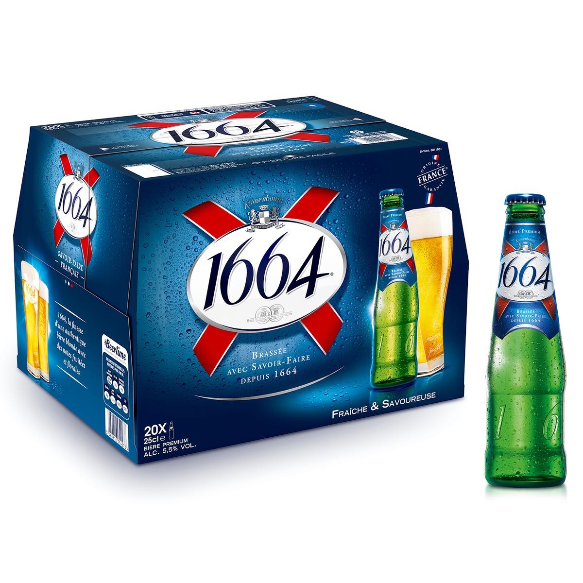 Bière blonde 1664 offre à 10,64€