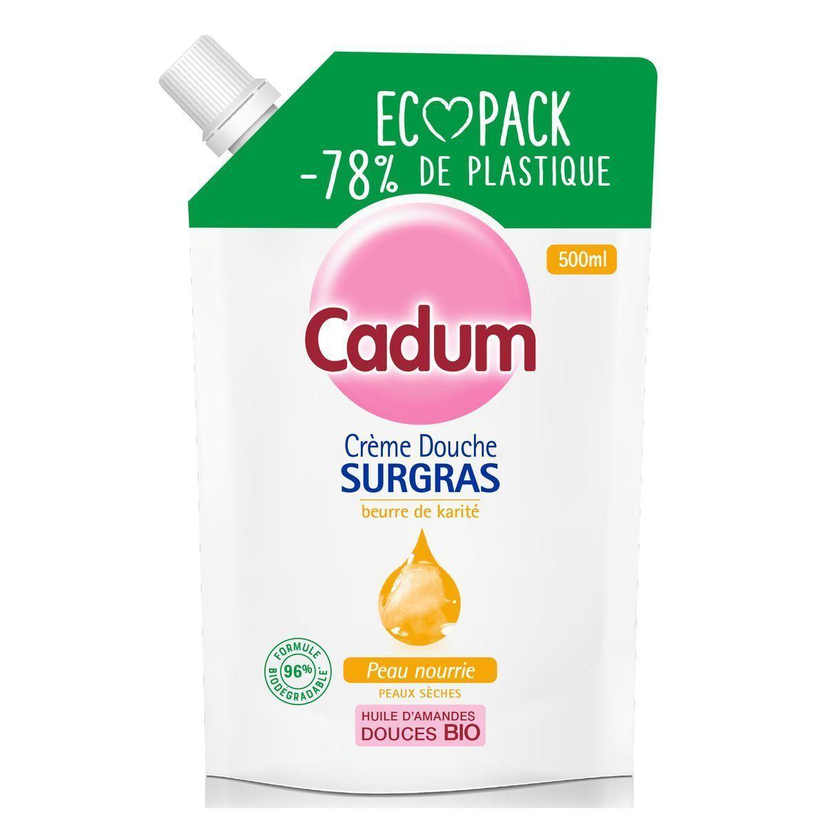 Gel douche ecopack Cadum offre à 3,3€