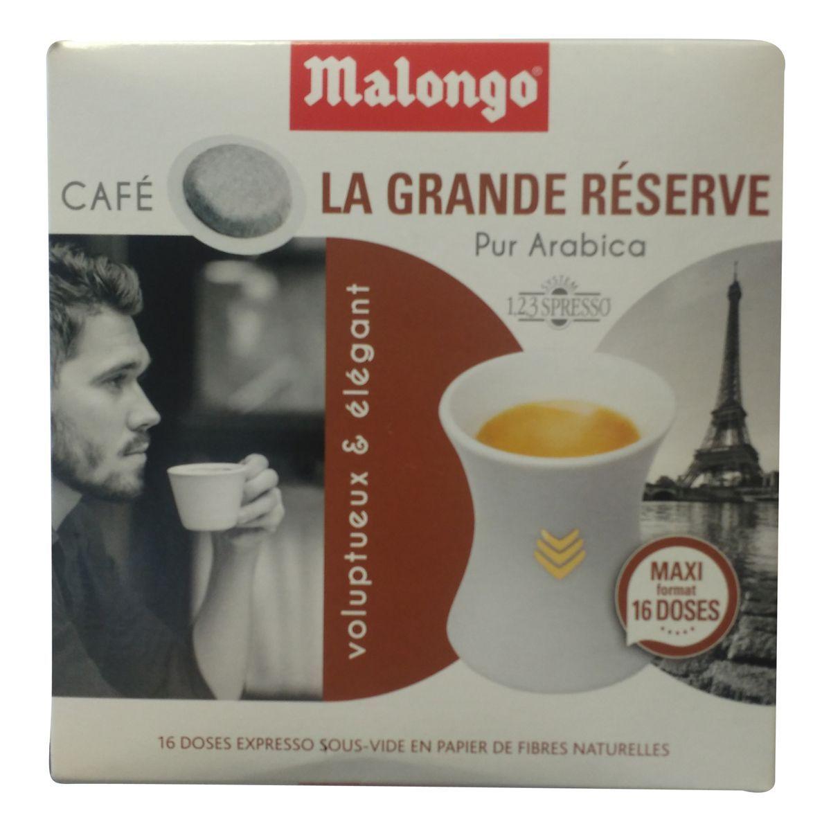 Dosettes de café Malongo offre à 2,72€