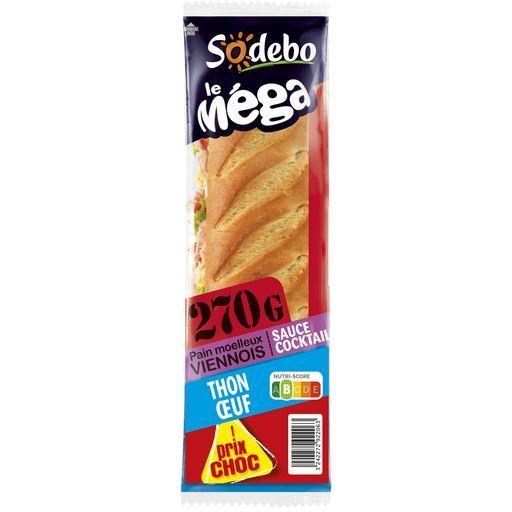Sandwichs le mega Sodebo offre à 1€