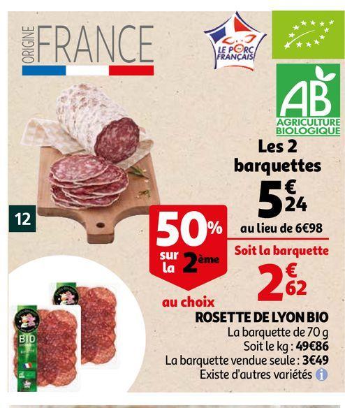 Rosette de lyon bio offre à 5,24€