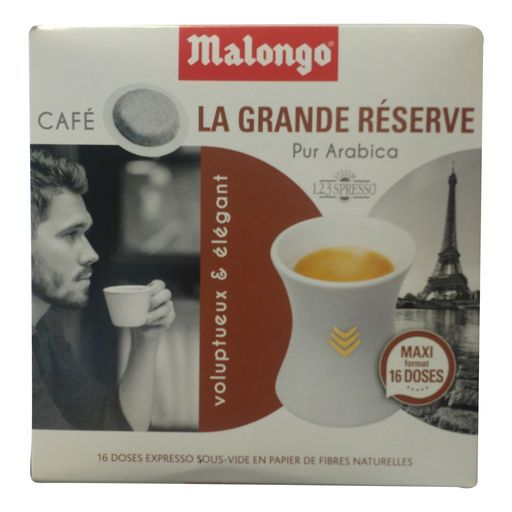 DOSETTES DE CAFÉ LA GRANDE RÉSERVE MALONGO offre à 2,72€