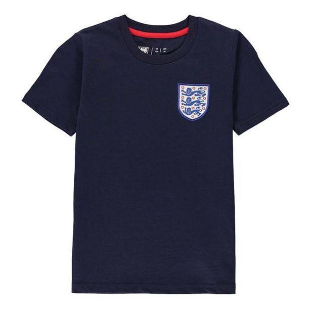FA England Small Crest T Shirt Juniors offre à 9,59€