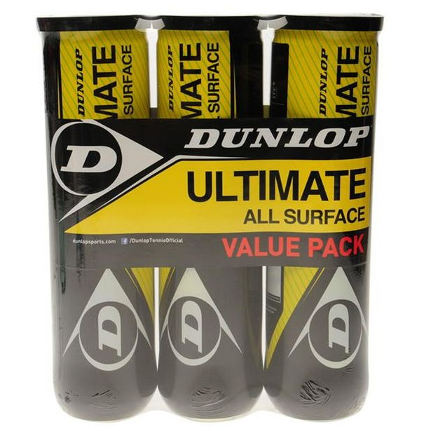 Dunlop Ultimate All Surface Tennis Ball Tri Pack offre à 12,6€