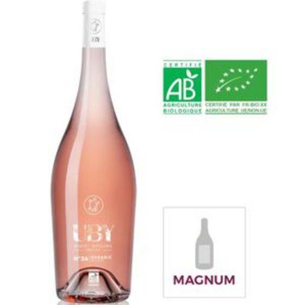 Magnum Domaine Uby Byo Côtes de Gascogne - Vin rosé du Sud - Bio offre à 17,45€