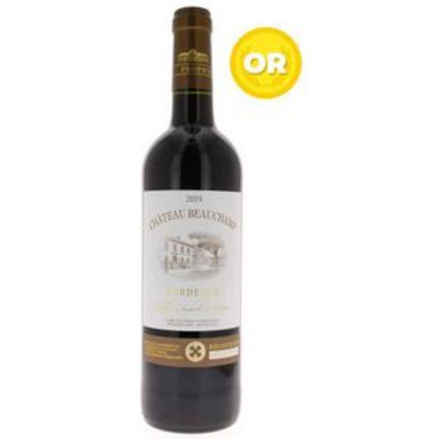 Château Beauchamp 2019 Bordeaux - Vin rouge de Bordeaux offre à 2,89€