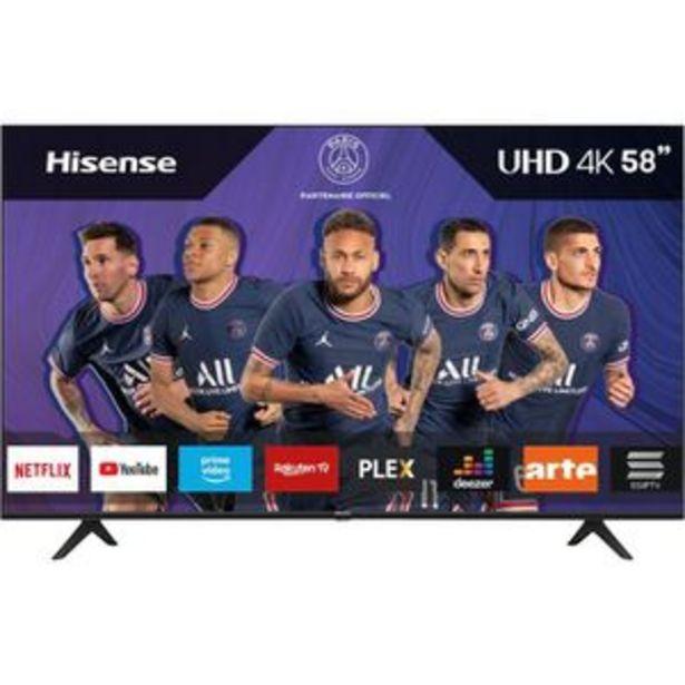 """HISENSE 58BE5000F - TV LED 58"""" (146cm) UHD 4K - HDR 10+ - Ecran sans bord - Smart TV - 3xHDMI offre à 499,99€"""